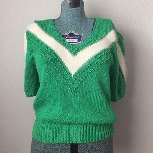 Lillie Rubin Angora Knit Emerald Top